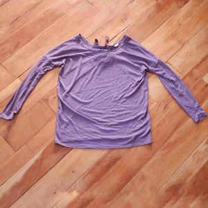 🎀 Garage Purple Knit Long Sleeve Blouse Medium